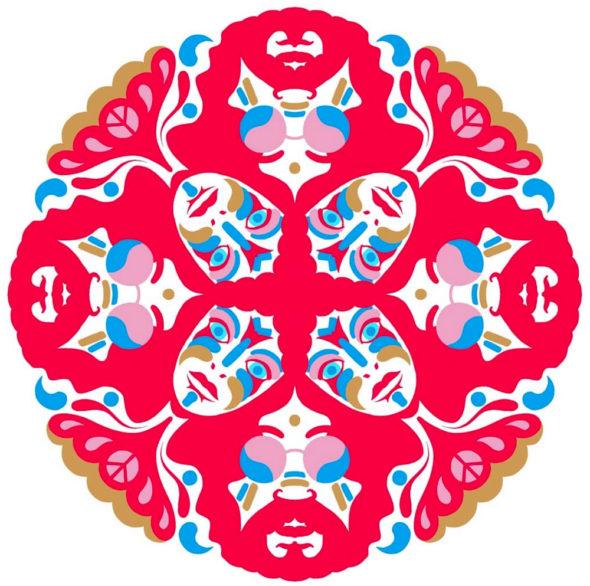 masque, japon, japonais, rouge, mandala
