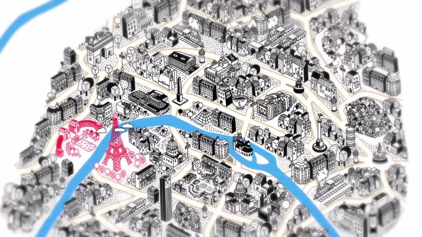 Film d'animation pour la Cité de l'architecture et du patrimoine © Djohr - Agence Patricia Lucas