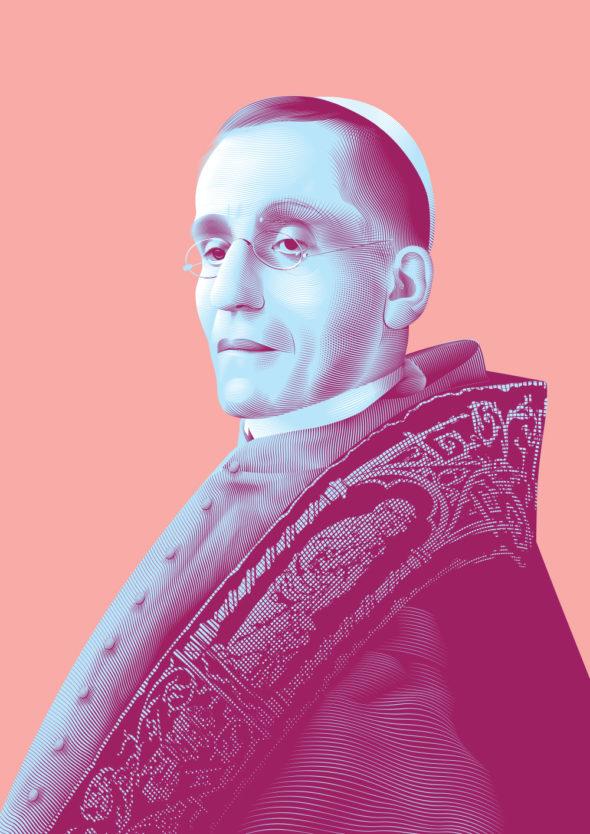 Portrait Pape Benoît XV © Christopher Evans - Agence Patricia Lucas