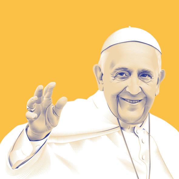 Portrait Pape François © Christopher Evans - Agence Patricia Lucas
