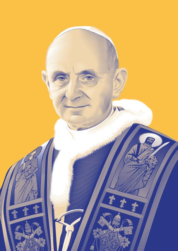 Portrait Pape Paul VI © Christopher Evans - Agence Patricia Lucas