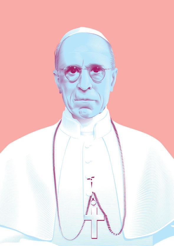 Portrait Pape Pie XII © Christopher Evans - Agence Patricia Lucas