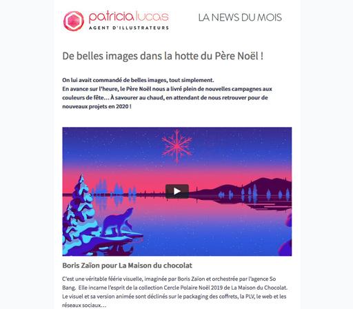 newsletter Agence Patricia Lucas - décembre 2019